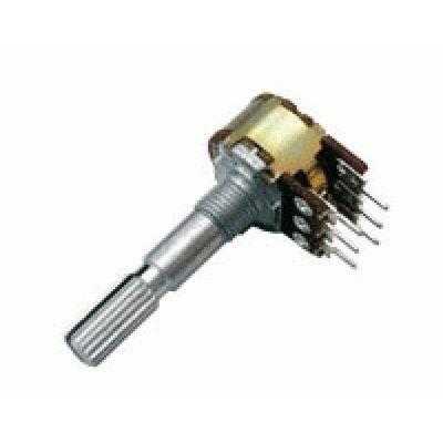 Potenciometer 250K/N stereo 6/30mm