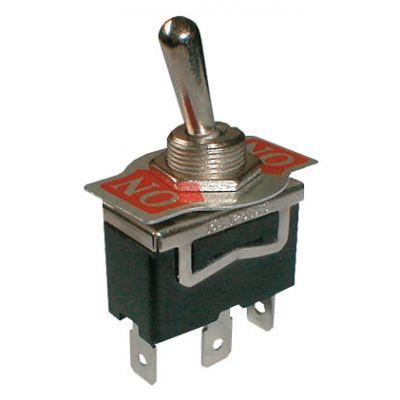 Prepínač páčkový 2pol./3pin ON-ON 250V/10A