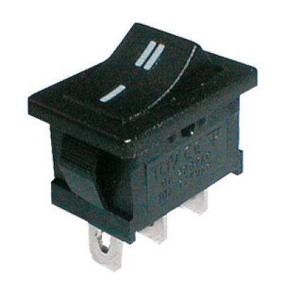 Prepínač kolískový 2pol./3pin ON-ON 250V/6A čierny
