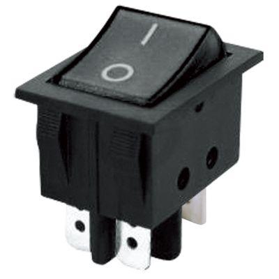 Prepínač kolískový 2pol./4pin (ON)-OFF 250V/15A