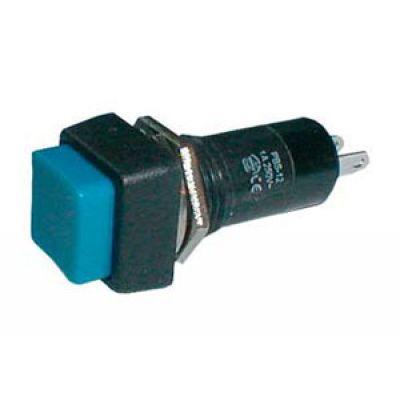 Prepínač tlačidlo štvorec OFF-(ON) 250V/1A modré