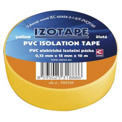Páska izolačná PVC 15/10m žltá EMOS