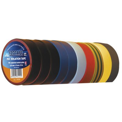Páska izolačná PVC 15/10m farebný mix EMOS 10ks