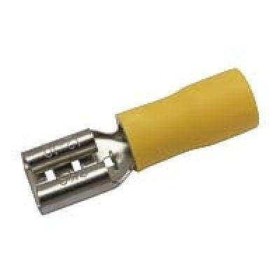 Zdierka faston 6.3mm ,vodič 4.0-6.0mm žltá