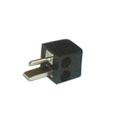 Konektor repro skrutkovacie uhlový čierny