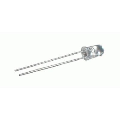 LED 5mm biela 22000 - 24000mcd/15° čirá