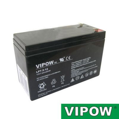 Batéria olovená 12V 7.5Ah VIPOW