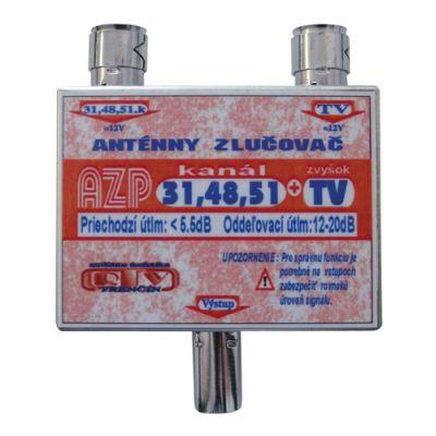 Anténny zlučovač AZP31,48,51+TV IEC