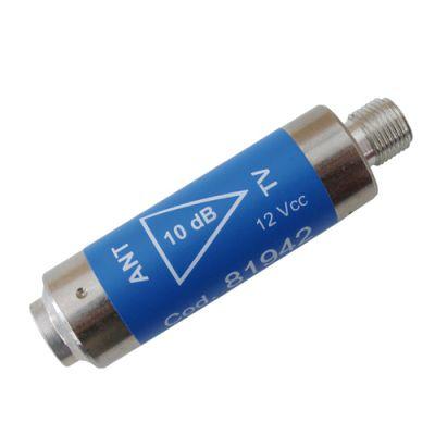 Predzosilňovač anténny Emme Esse 81942L, +12dB, UHF, filtr LTE, Fm-Ff, valček, 12V/22mA